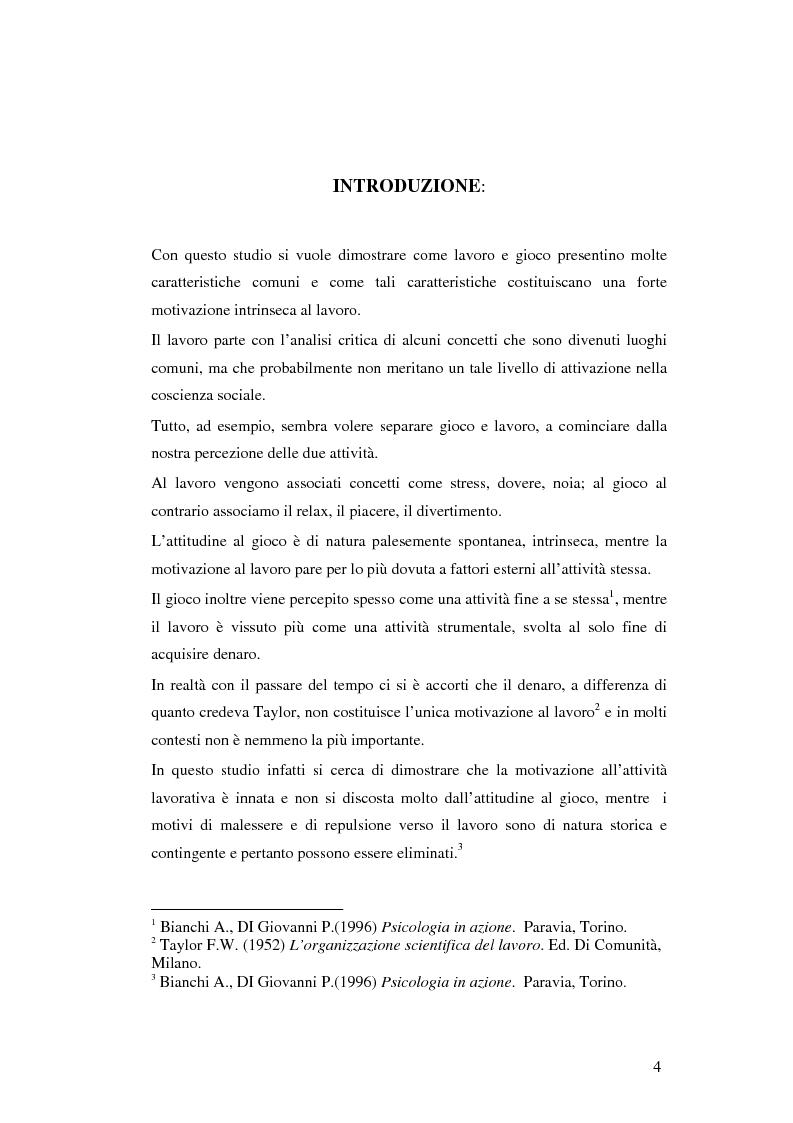 Anteprima della tesi: Gli aspetti ludici del lavoro, Pagina 1