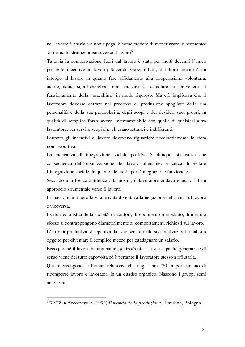 Anteprima della tesi: Gli aspetti ludici del lavoro, Pagina 5