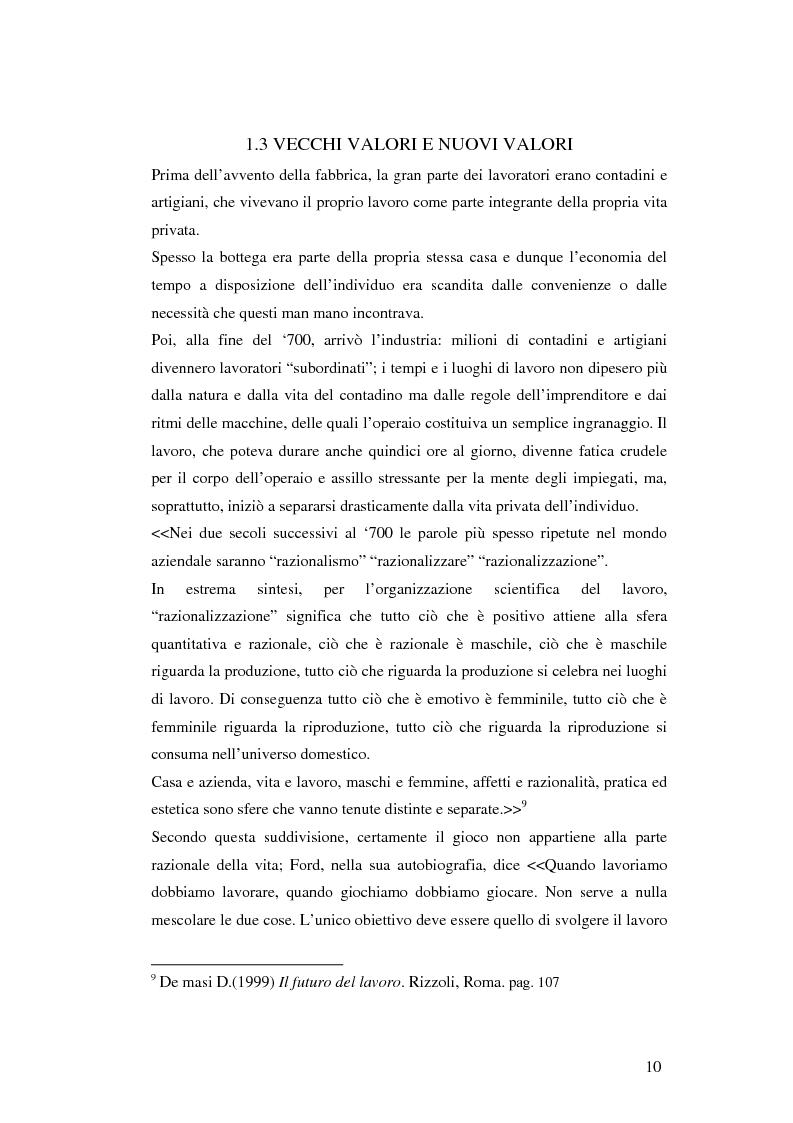 Anteprima della tesi: Gli aspetti ludici del lavoro, Pagina 7