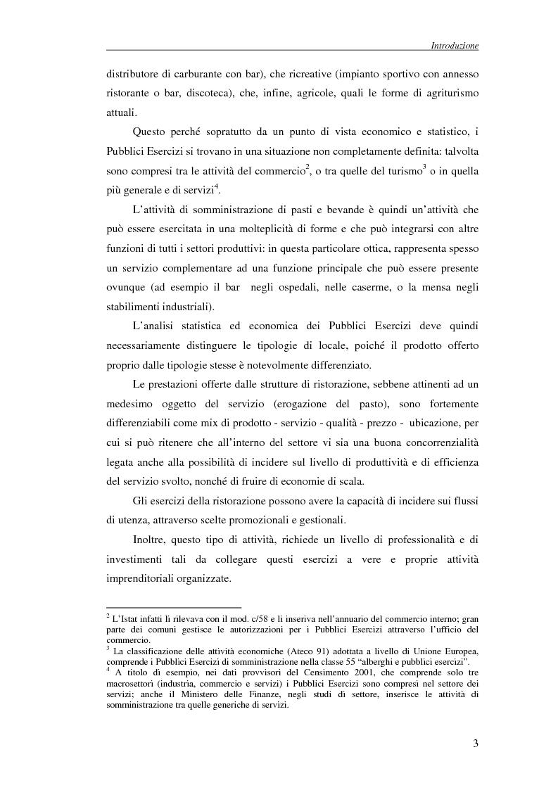 Anteprima della tesi: La tecnica Shift-Share: un'applicazione sui dati dei Pubblici Esercizi del Comune di Prato, Pagina 3