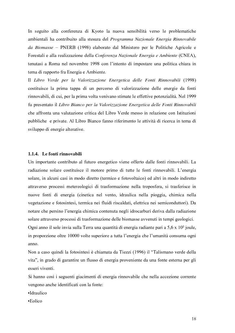 Anteprima della tesi: Analisi e caratteristiche di una nuova filiera di biocarburanti in Toscana, Pagina 12