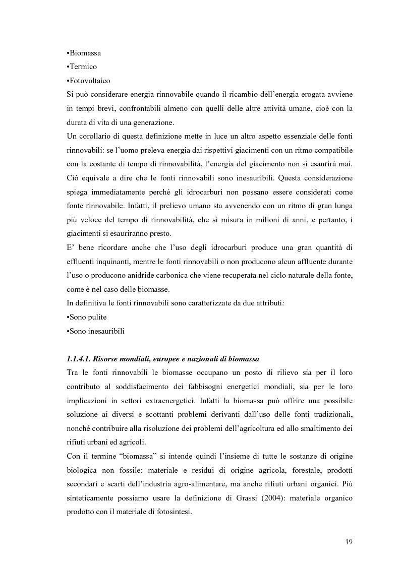 Anteprima della tesi: Analisi e caratteristiche di una nuova filiera di biocarburanti in Toscana, Pagina 13