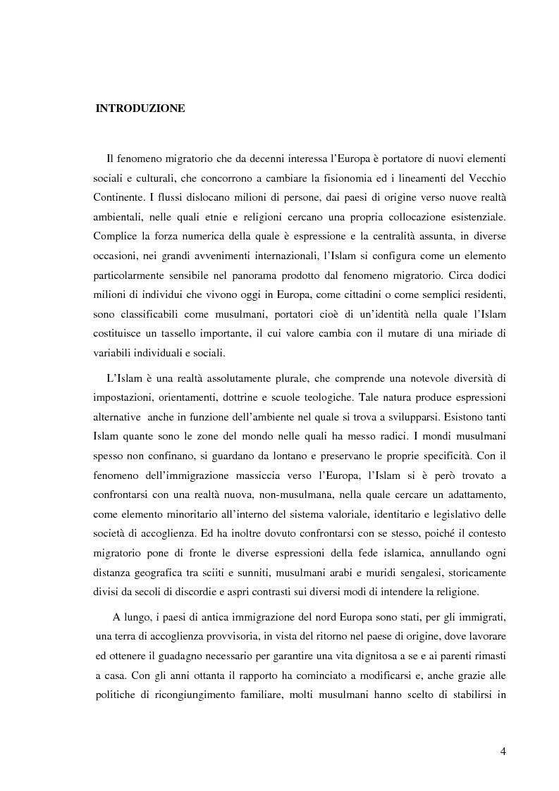 Anteprima della tesi: Terre di Islam. Italia e Francia nel mutare di un rapporto., Pagina 1