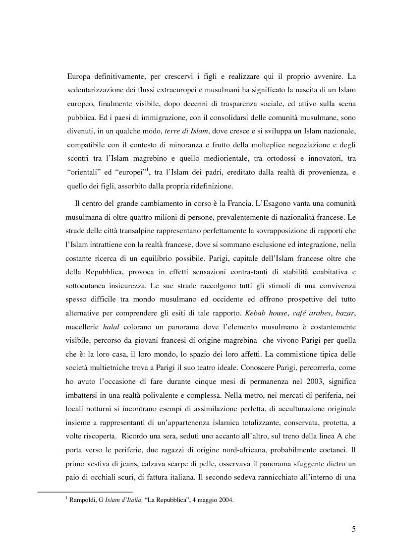 Anteprima della tesi: Terre di Islam. Italia e Francia nel mutare di un rapporto., Pagina 2