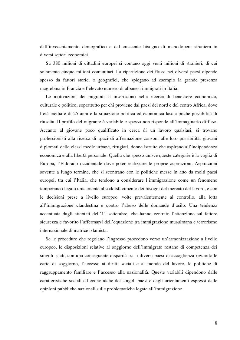 Anteprima della tesi: Terre di Islam. Italia e Francia nel mutare di un rapporto., Pagina 5