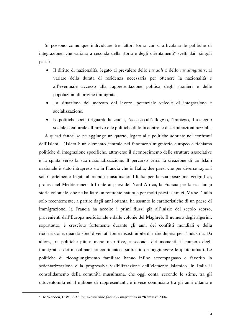Anteprima della tesi: Terre di Islam. Italia e Francia nel mutare di un rapporto., Pagina 6