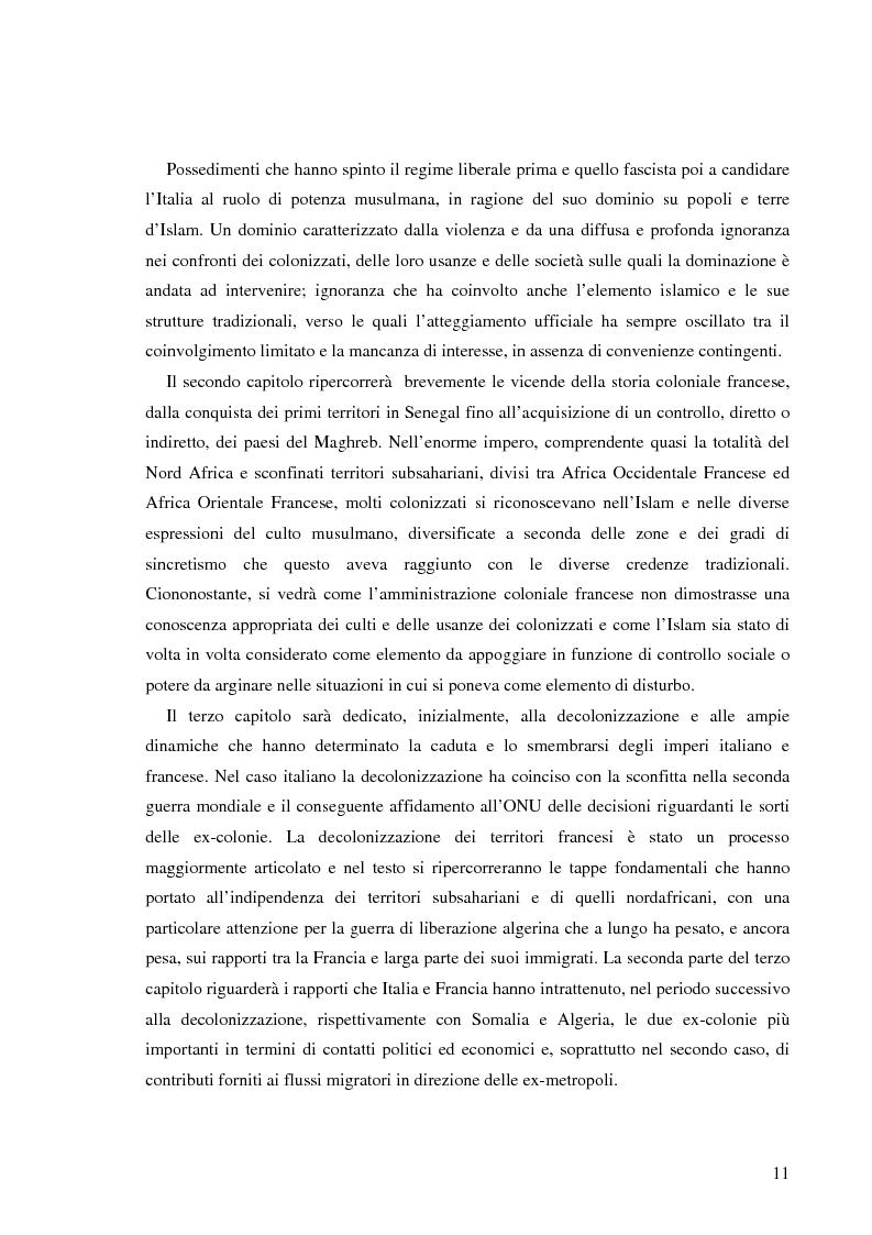 Anteprima della tesi: Terre di Islam. Italia e Francia nel mutare di un rapporto., Pagina 8
