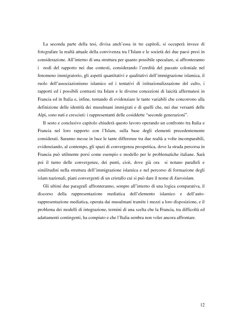 Anteprima della tesi: Terre di Islam. Italia e Francia nel mutare di un rapporto., Pagina 9