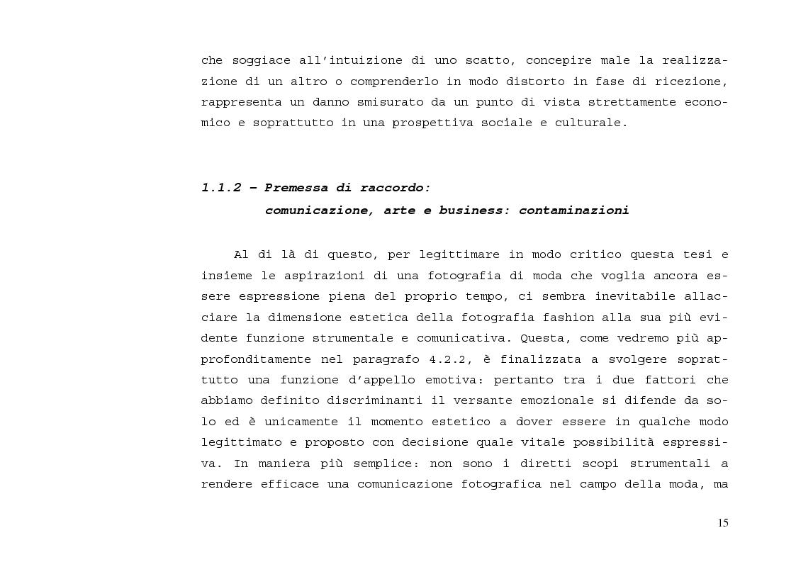 Anteprima della tesi: L'immagine sensibile e la sensibilità all'immagine. Estetica ed emozione nella fotografia di moda tra arte e business., Pagina 11