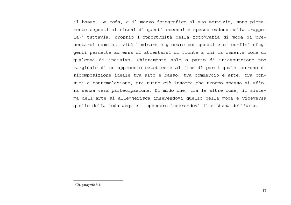 Anteprima della tesi: L'immagine sensibile e la sensibilità all'immagine. Estetica ed emozione nella fotografia di moda tra arte e business., Pagina 13