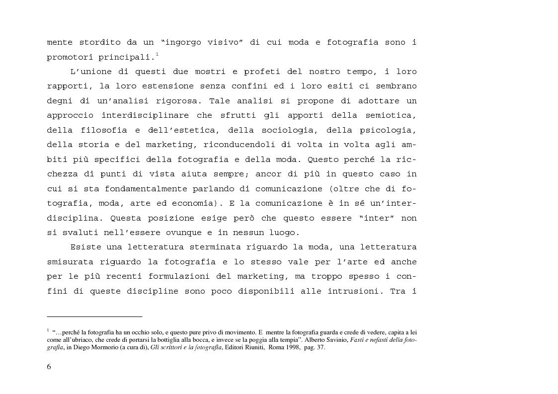 Anteprima della tesi: L'immagine sensibile e la sensibilità all'immagine. Estetica ed emozione nella fotografia di moda tra arte e business., Pagina 2