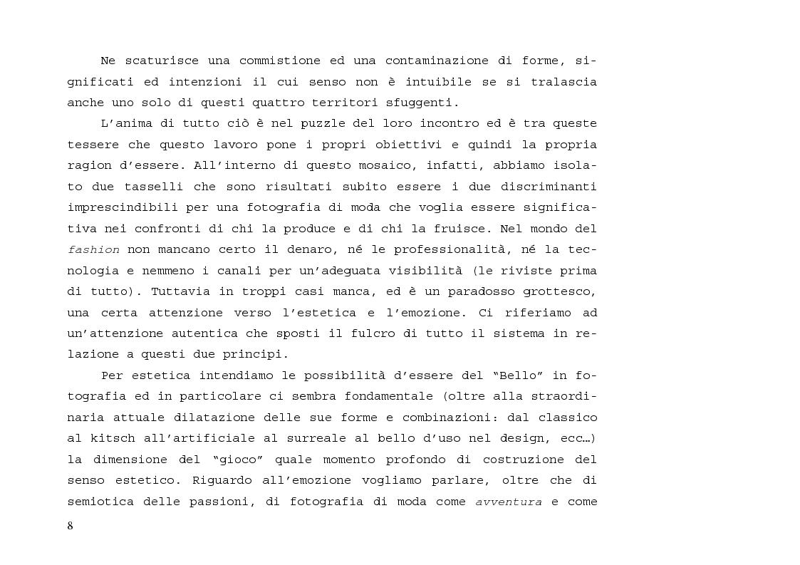 Anteprima della tesi: L'immagine sensibile e la sensibilità all'immagine. Estetica ed emozione nella fotografia di moda tra arte e business., Pagina 4