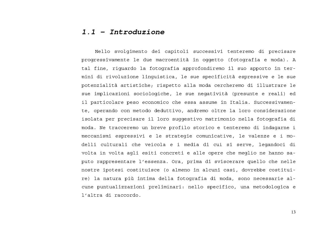 Anteprima della tesi: L'immagine sensibile e la sensibilità all'immagine. Estetica ed emozione nella fotografia di moda tra arte e business., Pagina 9