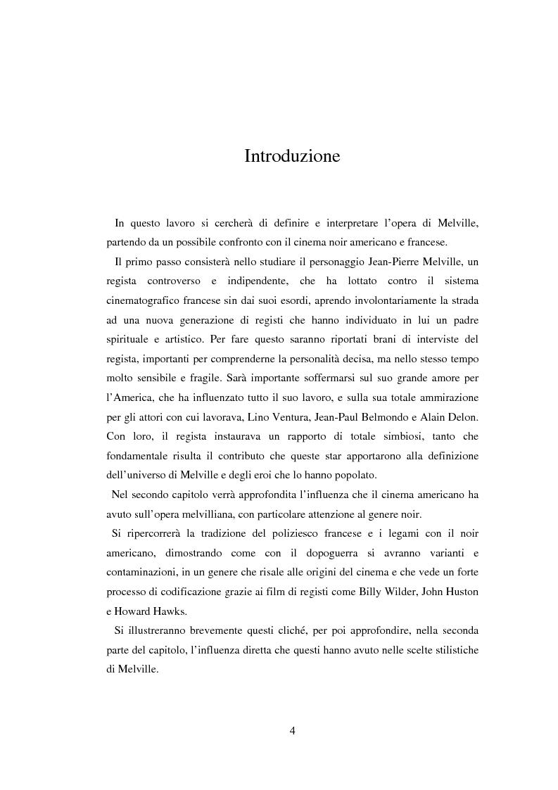 Anteprima della tesi: Il cinema noir di Jean-Pierre Melville: la circolarità della simulazione, Pagina 1
