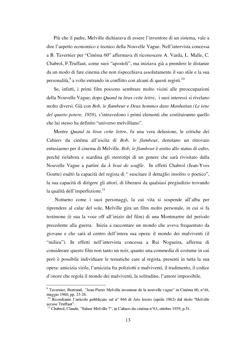 Anteprima della tesi: Il cinema noir di Jean-Pierre Melville: la circolarità della simulazione, Pagina 10
