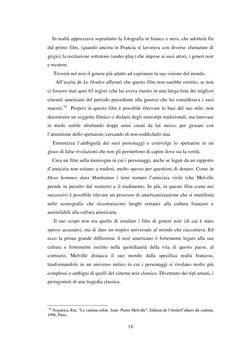 Anteprima della tesi: Il cinema noir di Jean-Pierre Melville: la circolarità della simulazione, Pagina 13