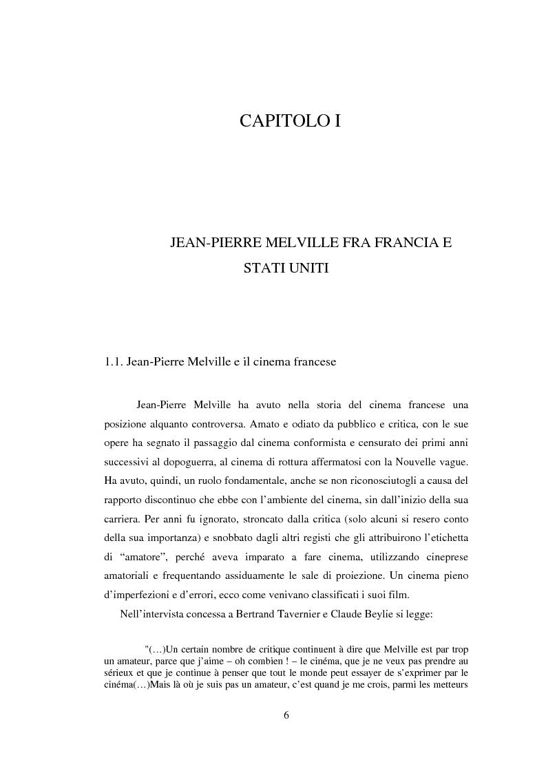 Anteprima della tesi: Il cinema noir di Jean-Pierre Melville: la circolarità della simulazione, Pagina 3