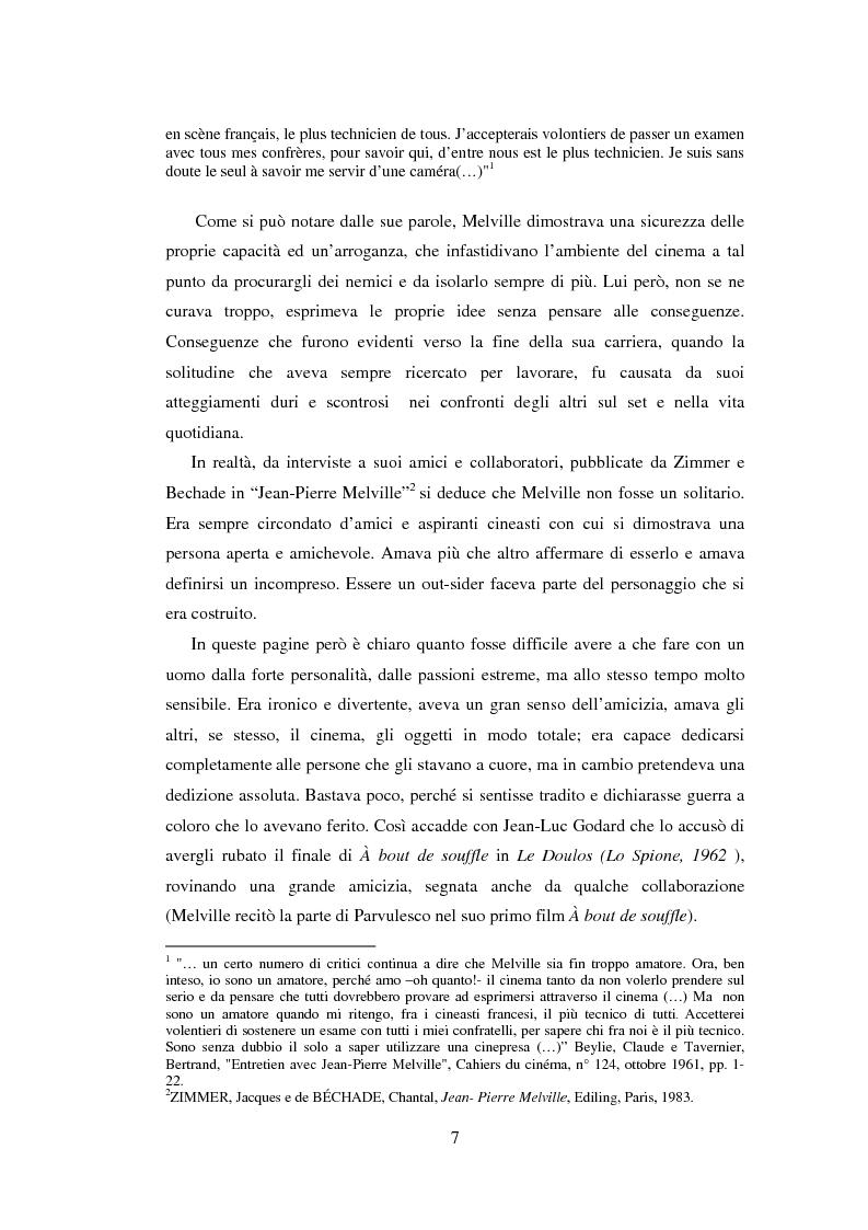 Anteprima della tesi: Il cinema noir di Jean-Pierre Melville: la circolarità della simulazione, Pagina 4