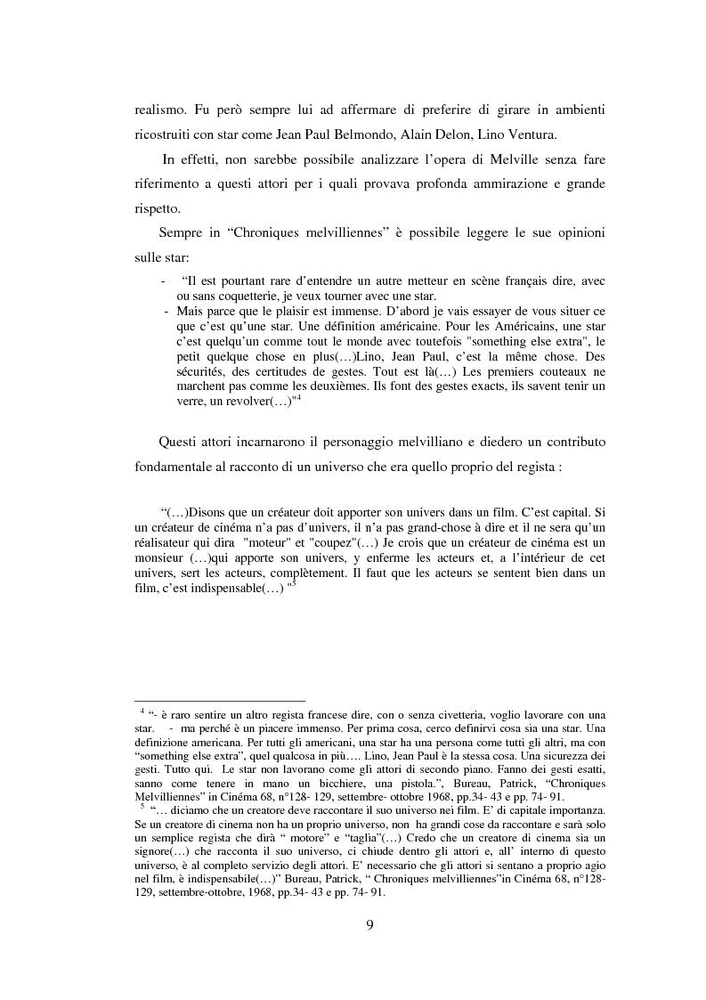 Anteprima della tesi: Il cinema noir di Jean-Pierre Melville: la circolarità della simulazione, Pagina 6