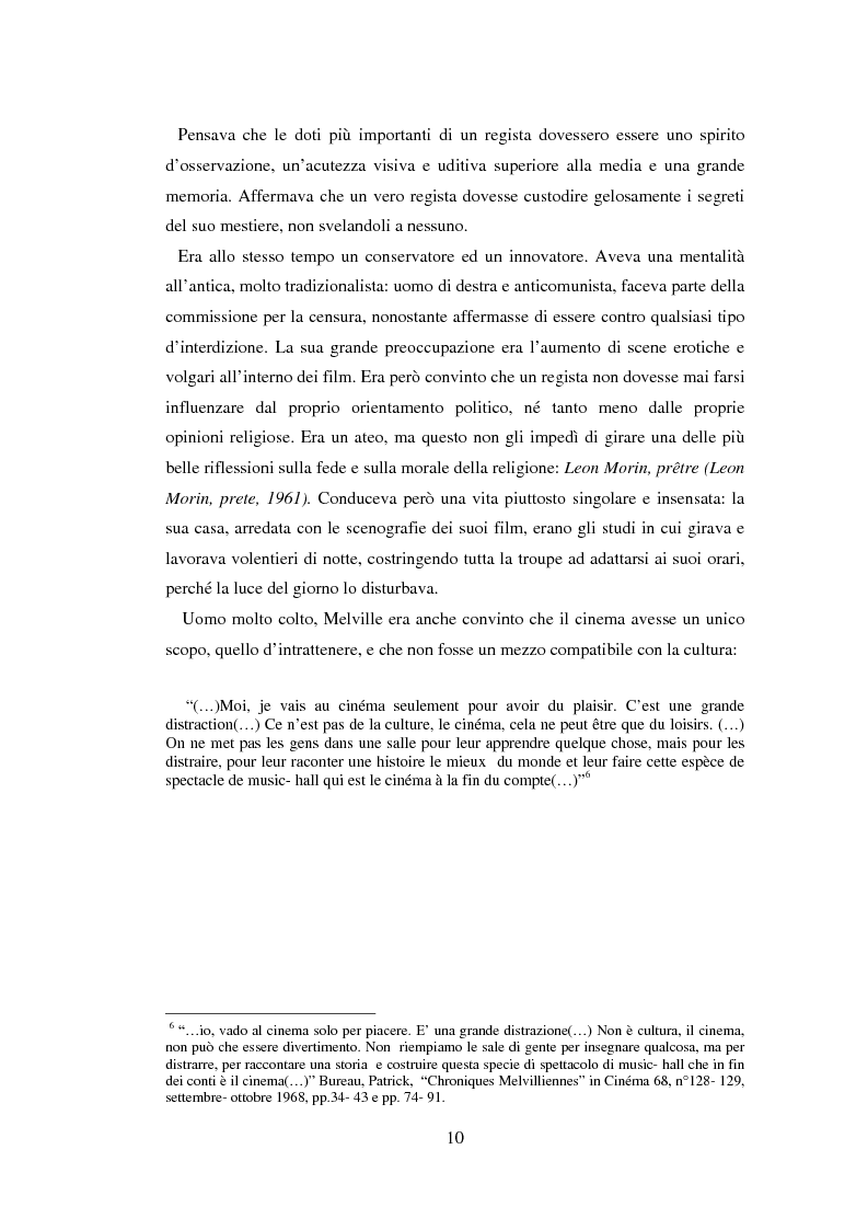 Anteprima della tesi: Il cinema noir di Jean-Pierre Melville: la circolarità della simulazione, Pagina 7