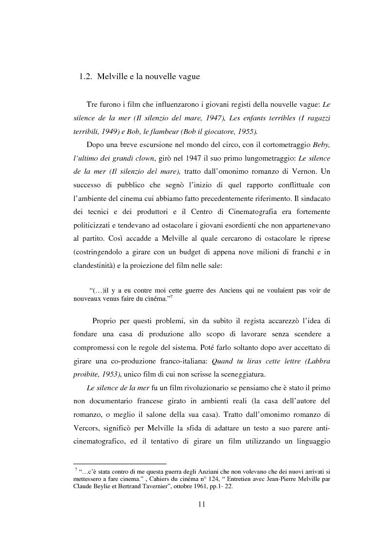 Anteprima della tesi: Il cinema noir di Jean-Pierre Melville: la circolarità della simulazione, Pagina 8