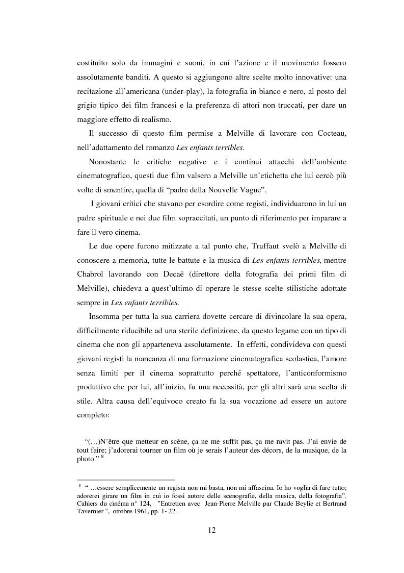 Anteprima della tesi: Il cinema noir di Jean-Pierre Melville: la circolarità della simulazione, Pagina 9