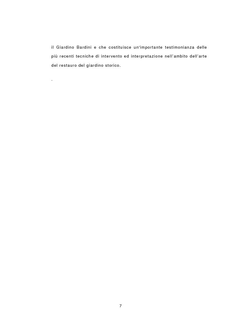 Anteprima della tesi: I giardini nella storia di Firenze. Un esempio di recupero nel cuore della città: il Giardino Mozzi Bardini, Pagina 7