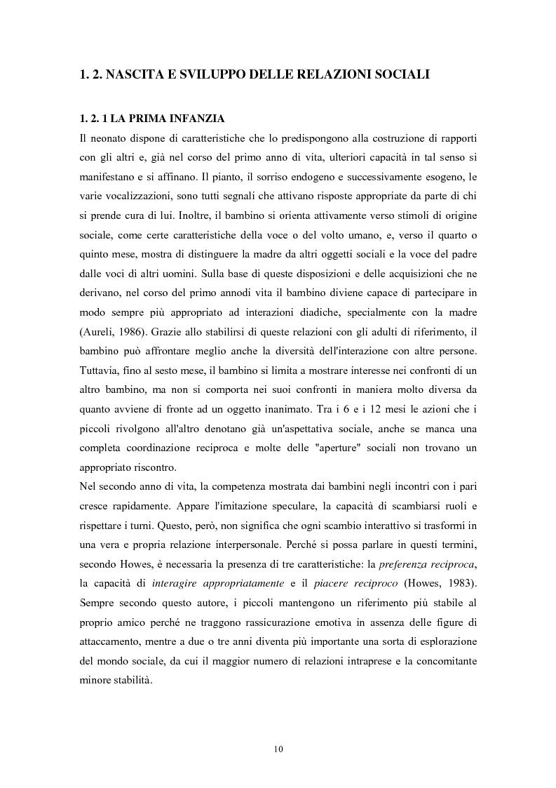 Anteprima della tesi: Caratteristiche temperamentali e stili di attaccamento nello sviluppo della competenza sociale: uno studio osservativo, Pagina 6