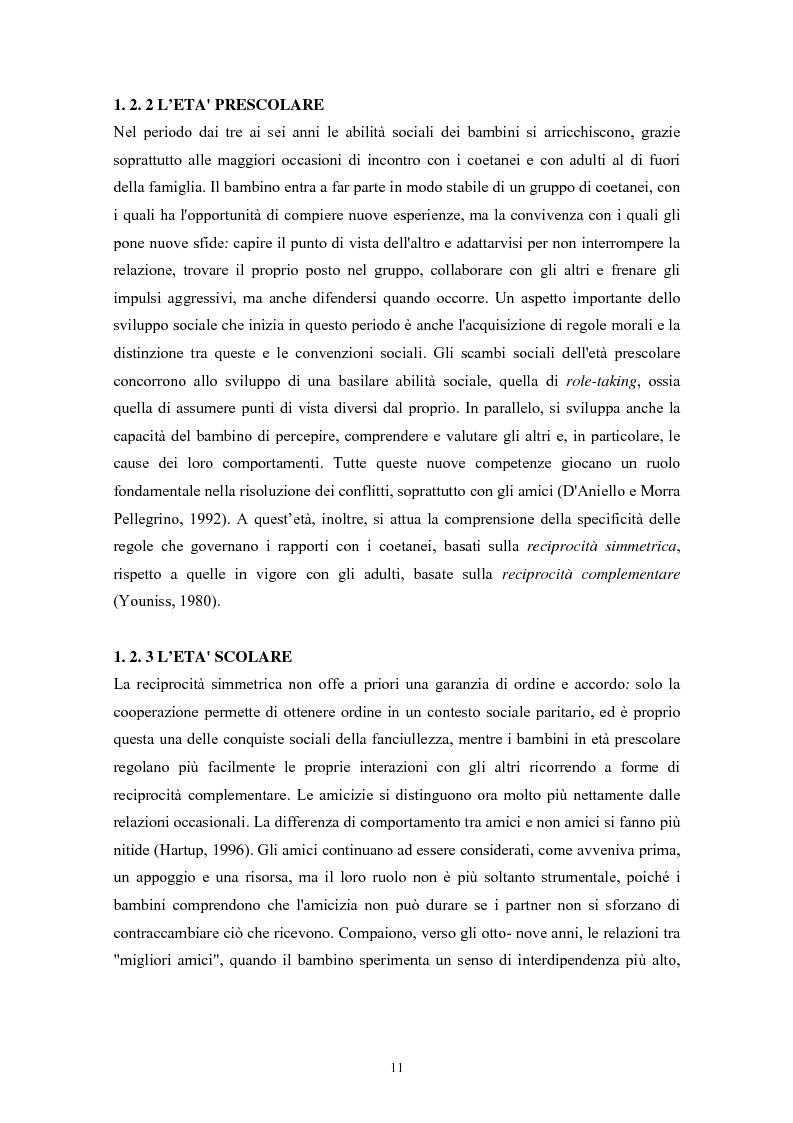 Anteprima della tesi: Caratteristiche temperamentali e stili di attaccamento nello sviluppo della competenza sociale: uno studio osservativo, Pagina 7