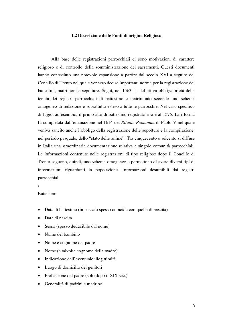 Anteprima della tesi: Analisi biodemografica di una popolazione dell'Appennino Parmense: Iggio (secoli XVIII-XX), Pagina 3