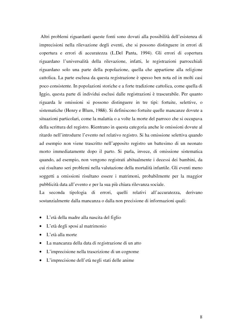 Anteprima della tesi: Analisi biodemografica di una popolazione dell'Appennino Parmense: Iggio (secoli XVIII-XX), Pagina 5