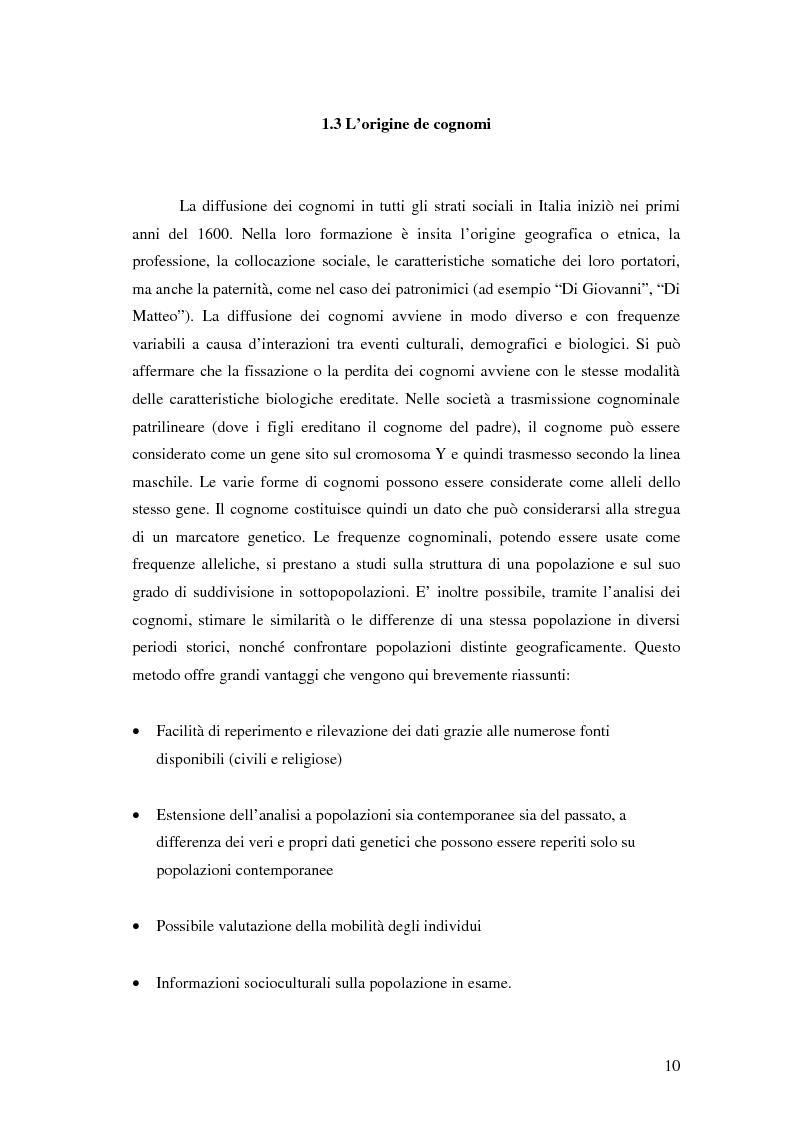Anteprima della tesi: Analisi biodemografica di una popolazione dell'Appennino Parmense: Iggio (secoli XVIII-XX), Pagina 7