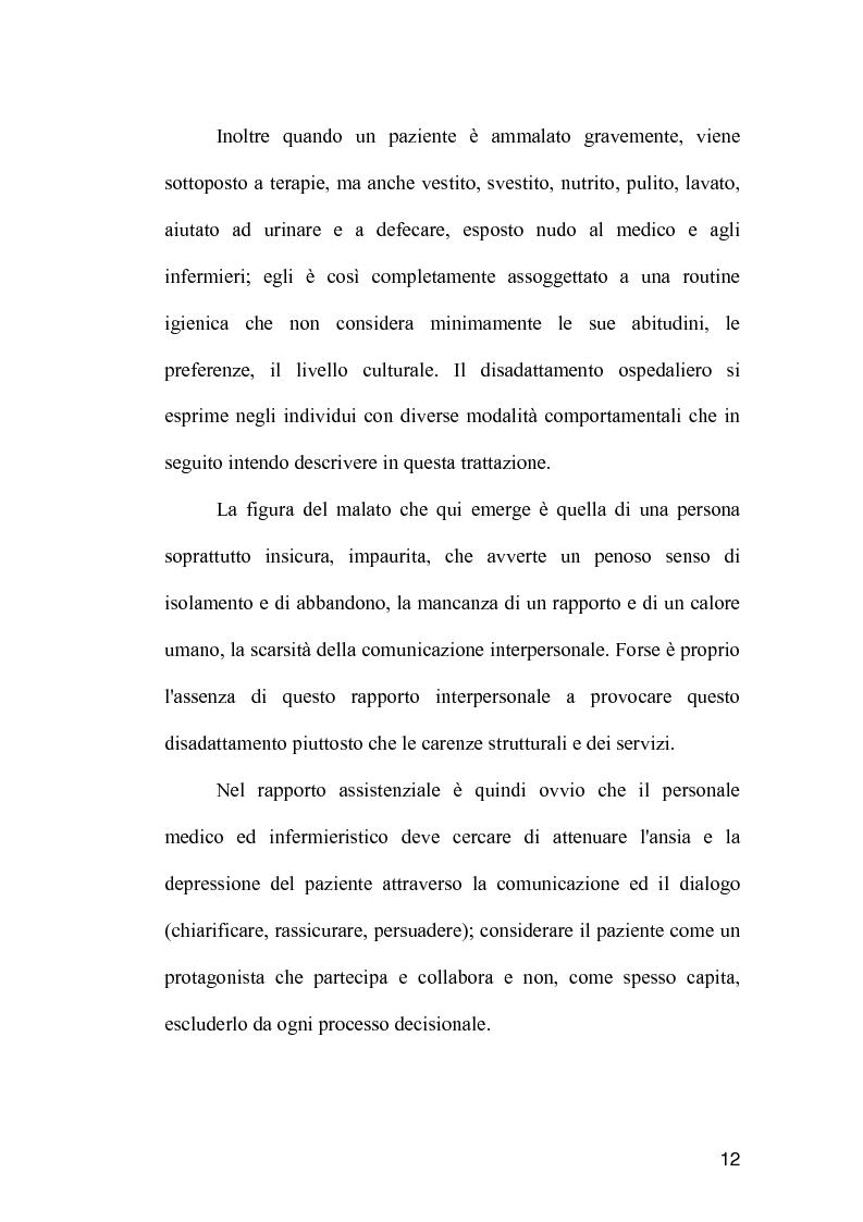 Anteprima della tesi: La comunicazione come strumento terapeutico: l'importanza della raccolta dei dati nel processo di nursing, Pagina 11