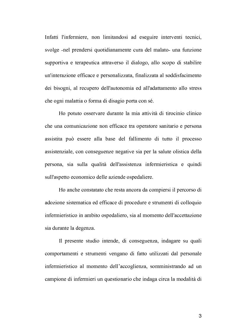 Anteprima della tesi: La comunicazione come strumento terapeutico: l'importanza della raccolta dei dati nel processo di nursing, Pagina 2
