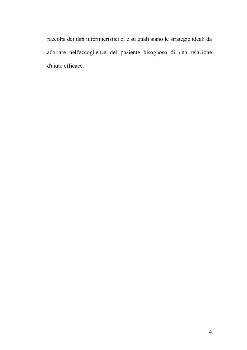 Anteprima della tesi: La comunicazione come strumento terapeutico: l'importanza della raccolta dei dati nel processo di nursing, Pagina 3