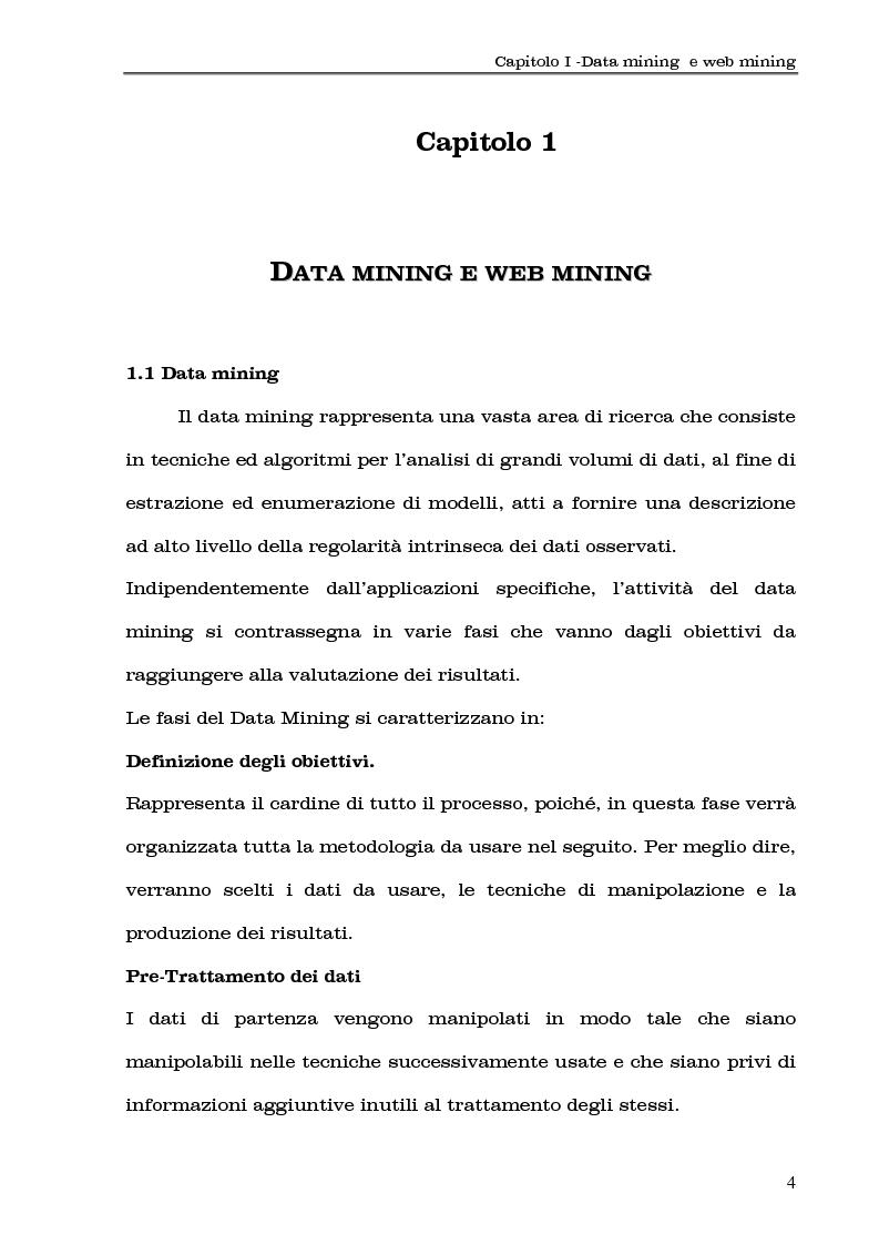 Anteprima della tesi: Clustering di transazioni web sulla base della similarità degli accessi, Pagina 4