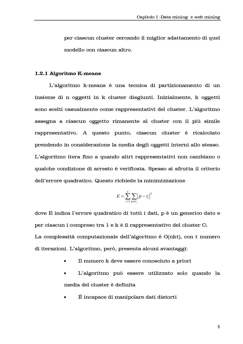 Anteprima della tesi: Clustering di transazioni web sulla base della similarità degli accessi, Pagina 8