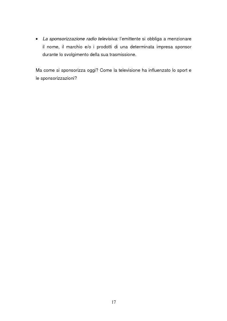 Anteprima della tesi: Le sponsorizzazioni nel settore della vela: i casi Bix-Dynameeting e Paul&Shark, Pagina 14
