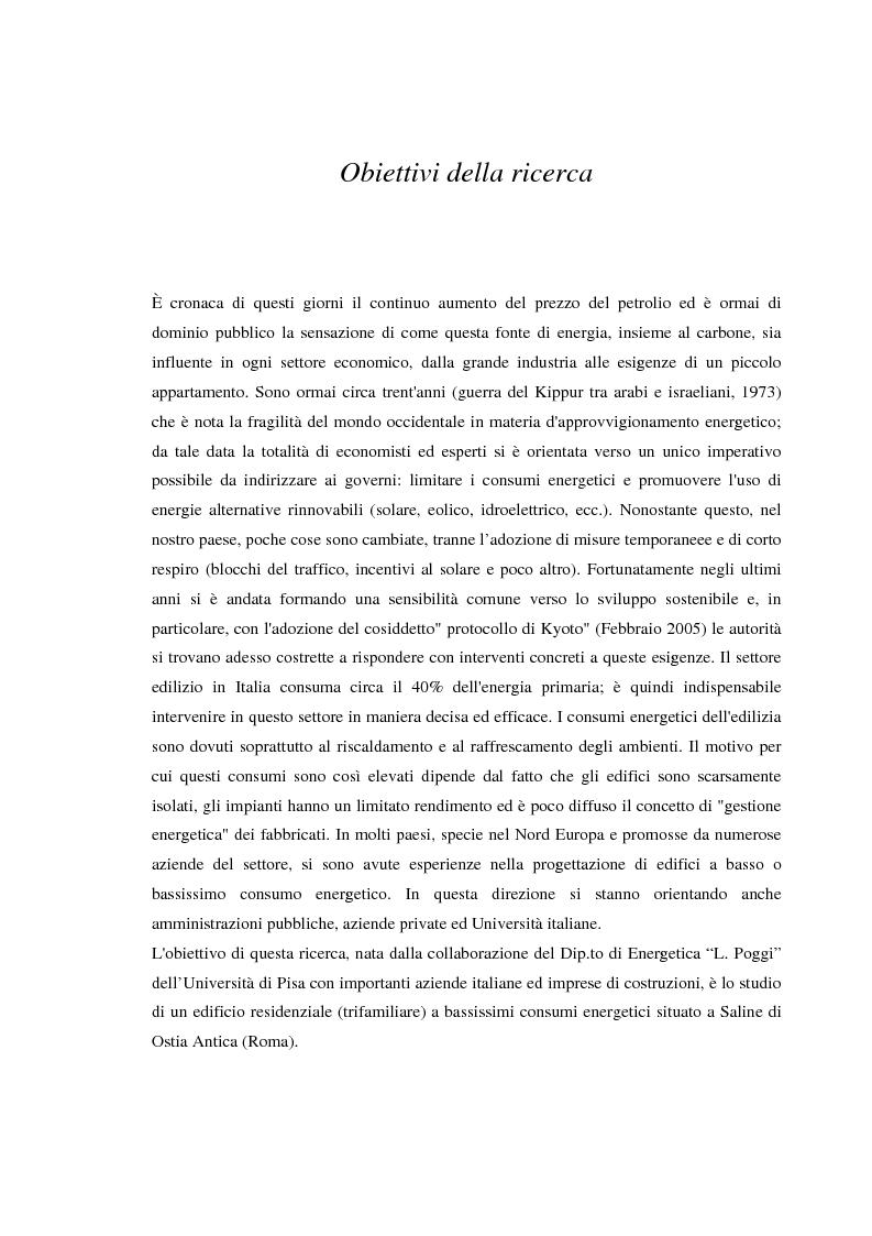 Anteprima della tesi: Edificio residenziale a bassissimo consumo energetico a Saline di Ostia (Roma), Pagina 1