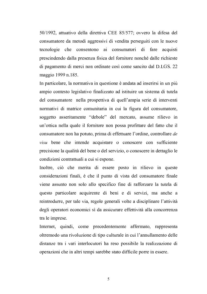 Anteprima della tesi: La tutela del consumatore nella new economy, Pagina 2