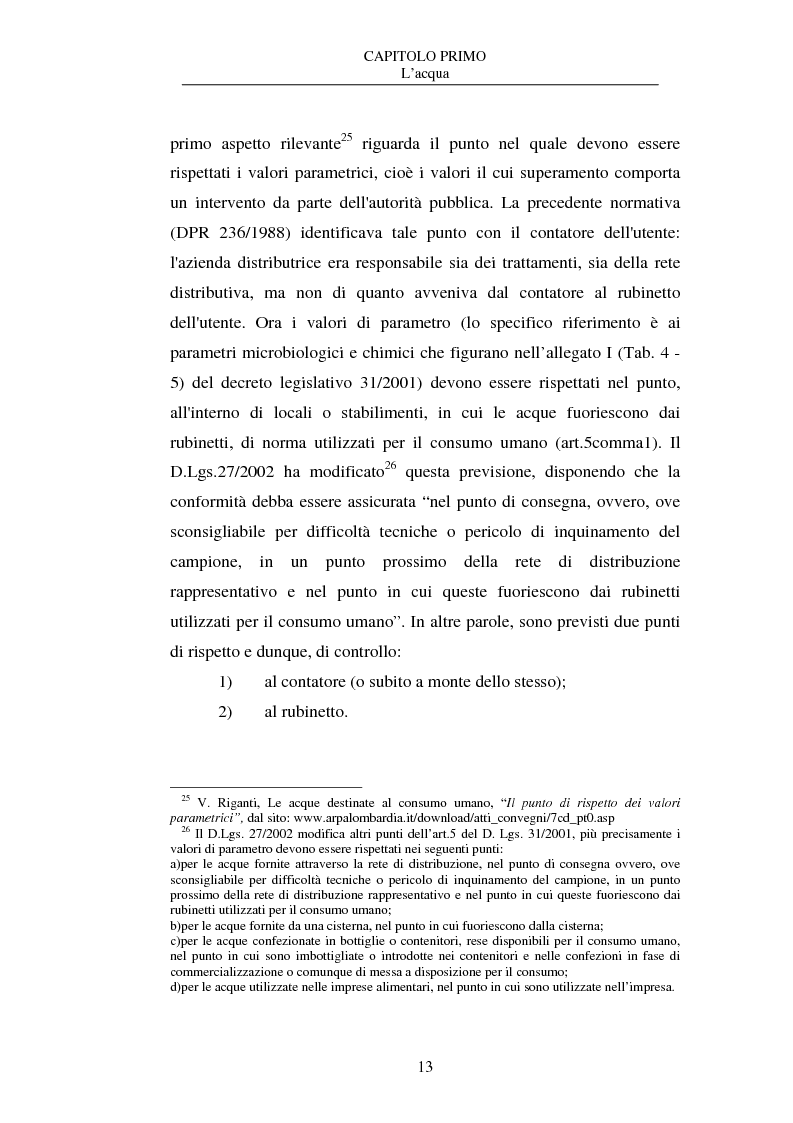 Anteprima della tesi: La nuova disciplina delle acque in bottiglia, Pagina 13