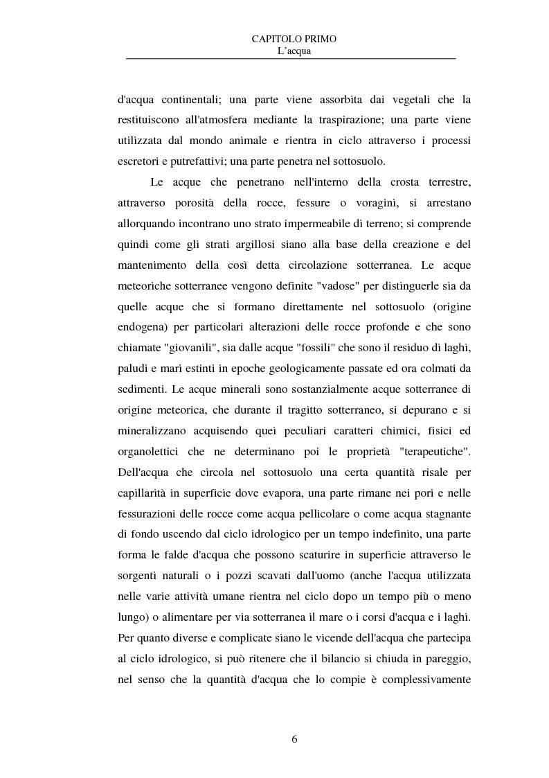 Anteprima della tesi: La nuova disciplina delle acque in bottiglia, Pagina 6