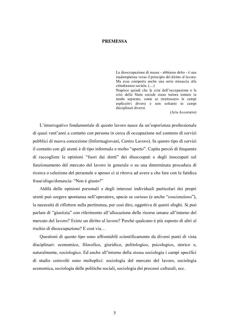 Dal collocamento alle agenzie per il lavoro: questioni di giustizia sociale nella regolazione del mercato del lavoro in ...