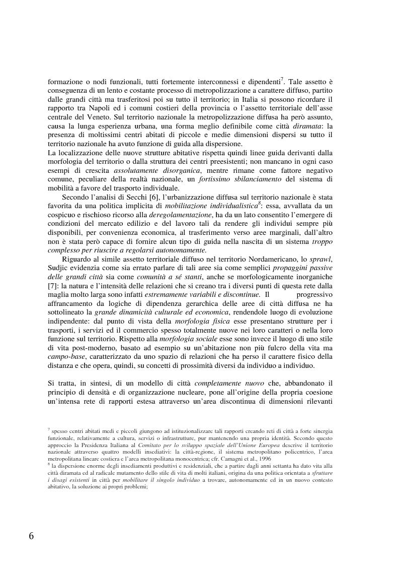 Anteprima della tesi: Il tram-treno: un segno attraverso la città diffusa, Pagina 10