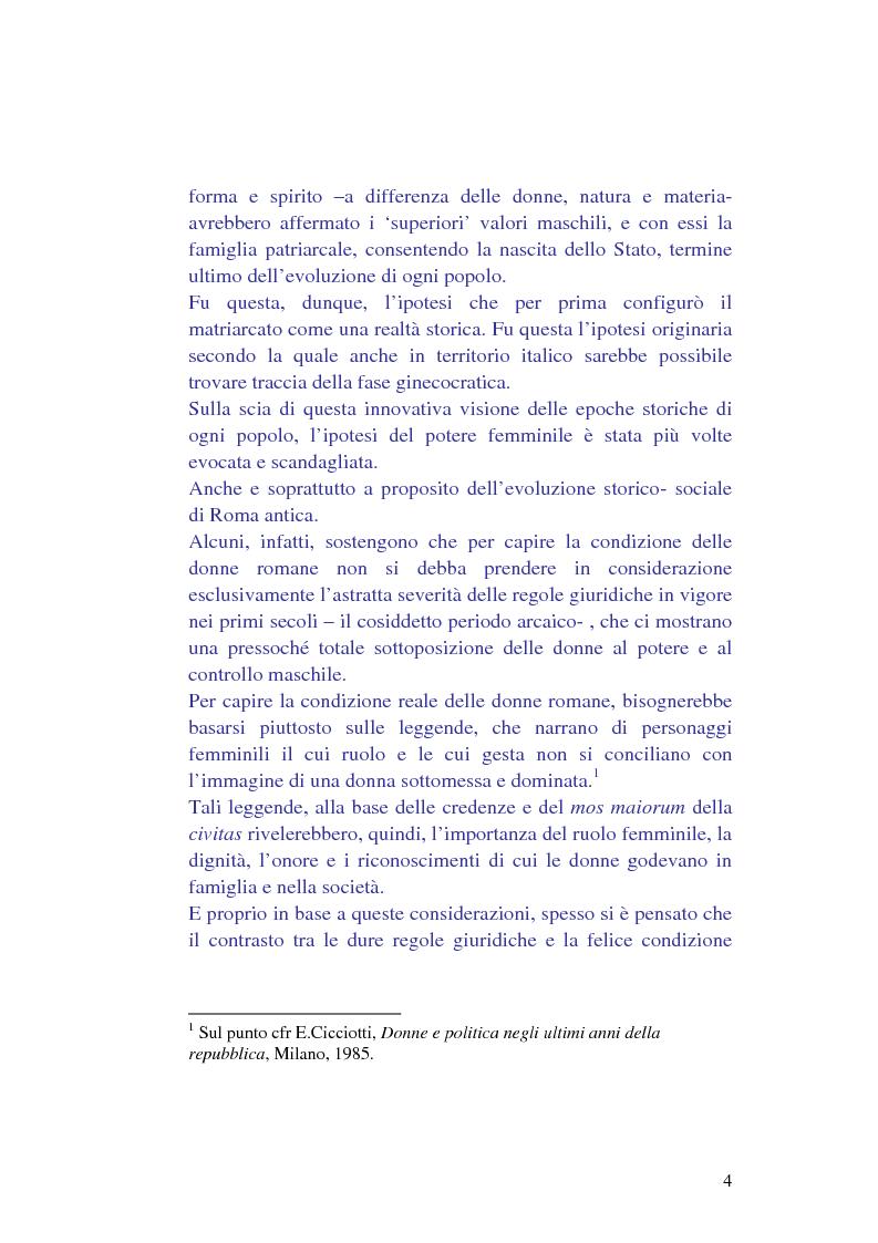 Anteprima della tesi: La condizione della donna in epoca classica, Pagina 2