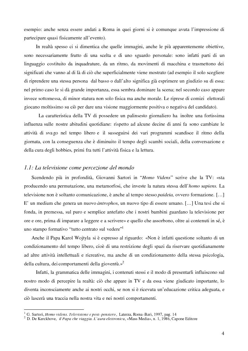 Anteprima della tesi: I bambini e la pubblicità: la sfida della Media Education, Pagina 4