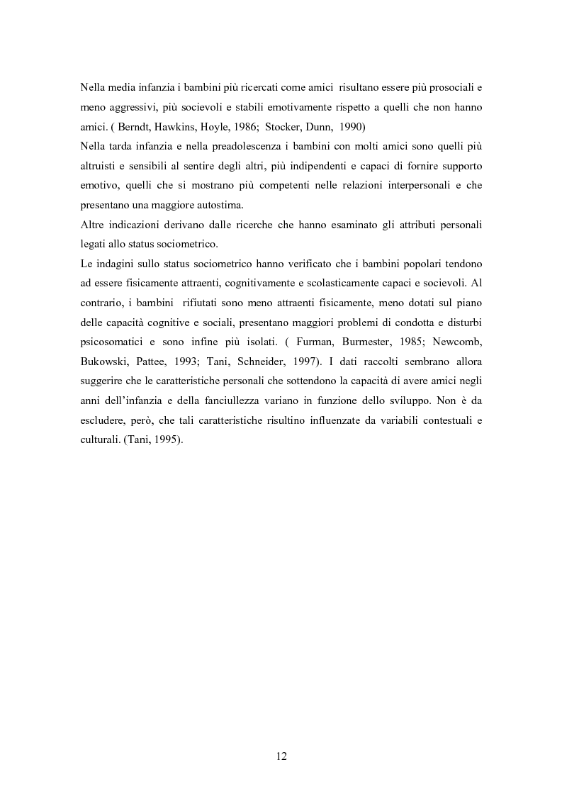 Anteprima della tesi: Conoscenze, atteggiamenti e sentimenti intorno ai pari in condizioni di disabilità. Uno studio nella scuola elementare, Pagina 12