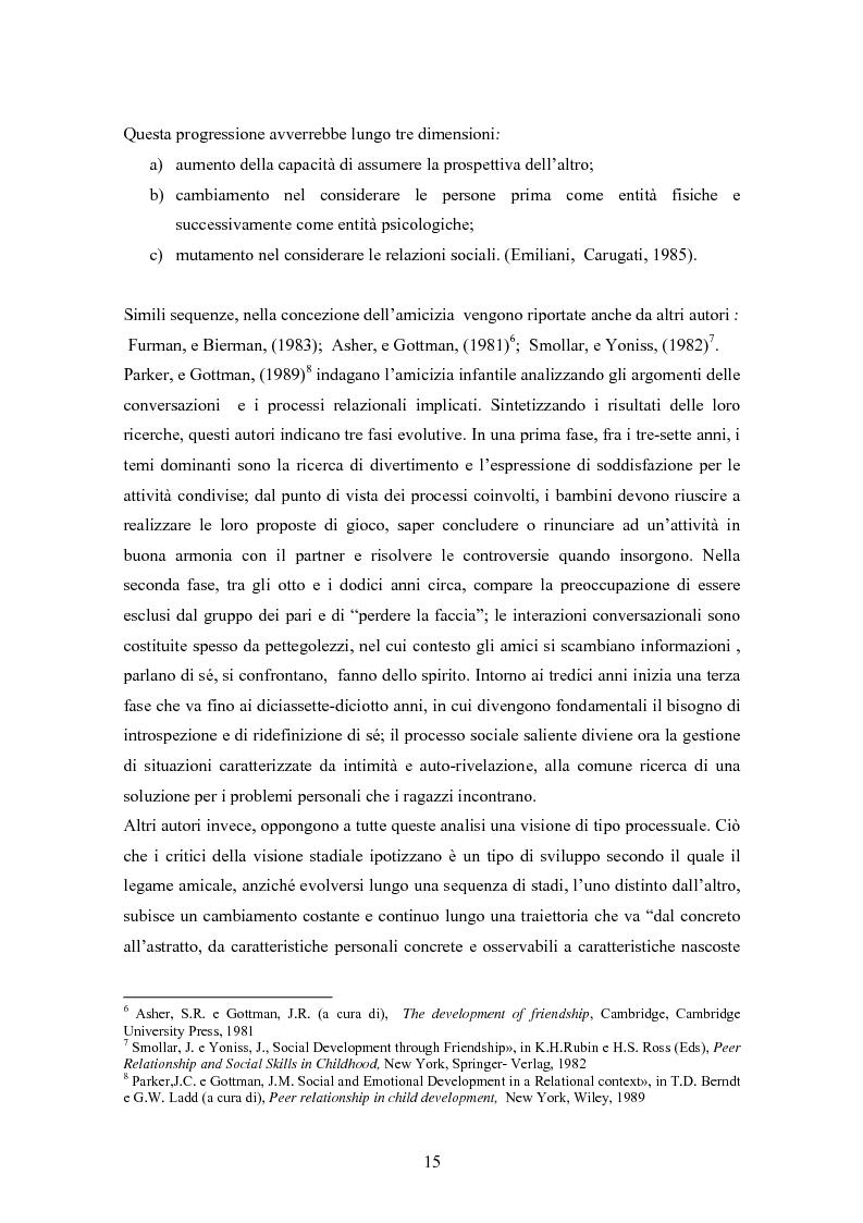 Anteprima della tesi: Conoscenze, atteggiamenti e sentimenti intorno ai pari in condizioni di disabilità. Uno studio nella scuola elementare, Pagina 15