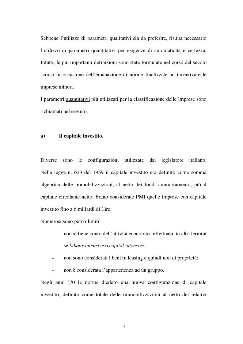 Anteprima della tesi: Le problematiche concernenti la concessione del credito alle PMI a seguito degli accordi di Basilea 2, Pagina 9