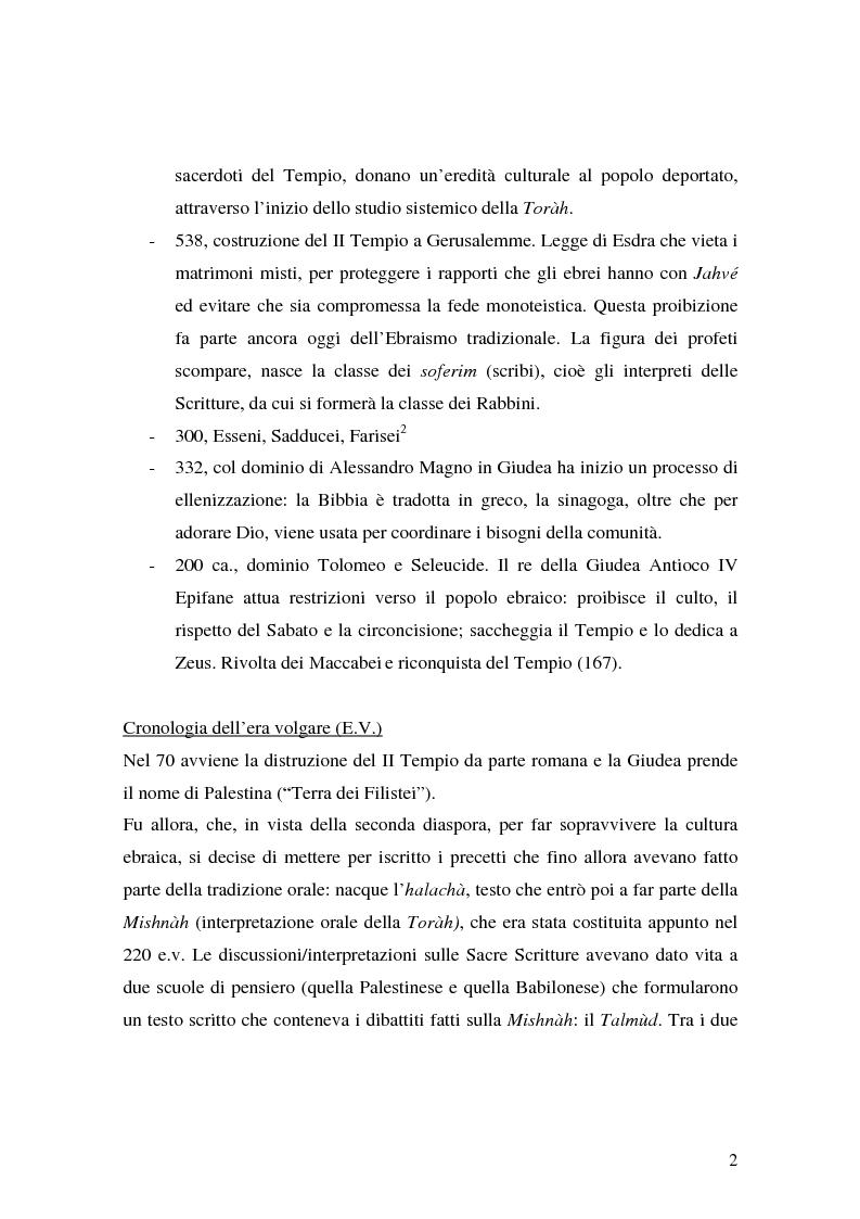 Anteprima della tesi: L'identità ebraica laica. Un confronto tra la prospettiva italiana e quella statunitense, Pagina 5